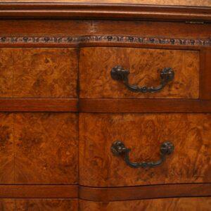 Antique Burr Walnut Writing Bureau Desk