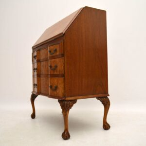 Antique Burr Walnut Writing Bureau Desk