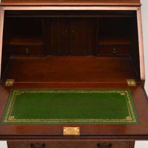 Antique Burr Walnut Bureau Bookcase
