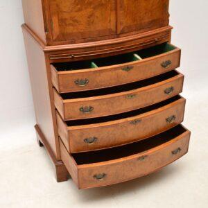 Antique Burr Walnut Cabinet on Chest