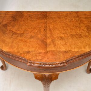 Antique Burr Walnut Queen Anne Style Card Table