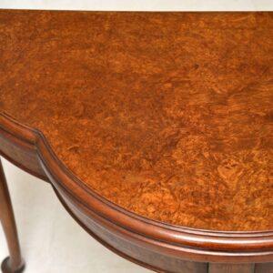 Antique Burr Walnut Card Table