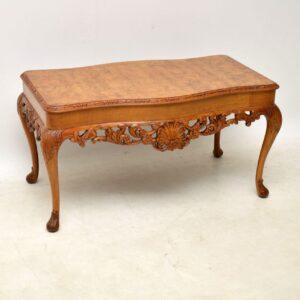 Antique Burr Walnut Coffee Table