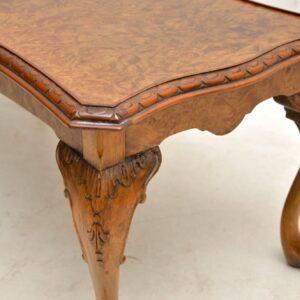 Antique Burr Maple & Walnut Coffee Table