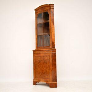 Antique Burr Walnut Corner Cabinet