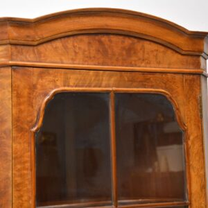 Antique Burr Walnut Corner Cabinet