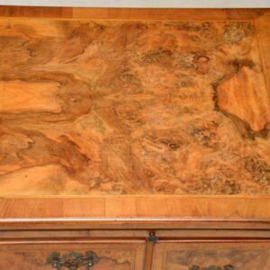 Antique Burr Walnut Desk / Writing Table / Dressing Table