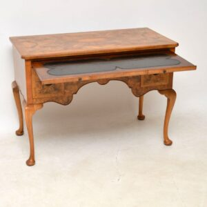 Antique Burr Walnut Desk / Writing Table / Dressing Table