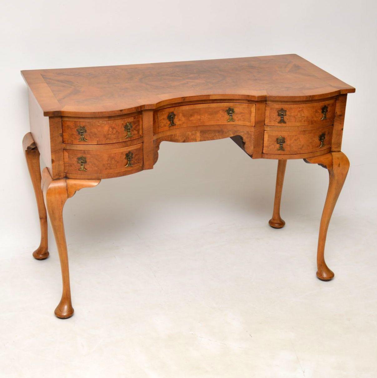 Antique Burr Walnut Desk / Dressing Table