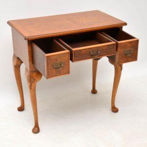 Antique Burr Walnut Lowboy / Side Table