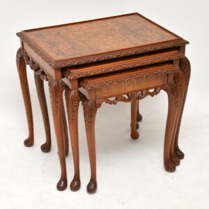 Antique Carved Walnut Nest of Tables