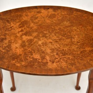 Antique Burr Walnut Oval Nest of Tables