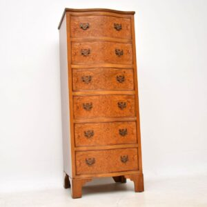 Antique Burr Walnut Serpentine Chest of Drawers