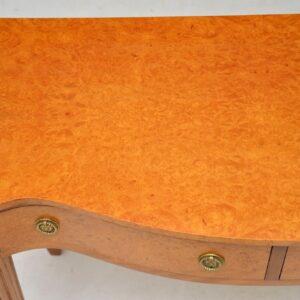 Antique Burr Maple Server / Console Table