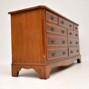 Antique Burr Walnut Long Low Chest of Drawers