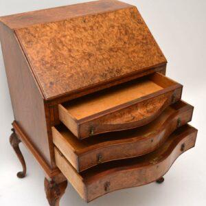 Antique Burr Walnut Writing Bureau - Desk