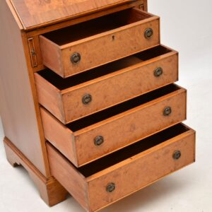 Antique Burr Maple & Walnut Writing Bureau