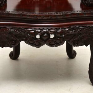 Antique Carved Hardwood Chinese Armchair