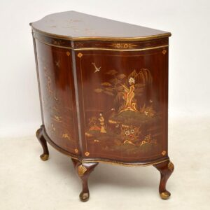 Antique Chinoiserie & Mahogany Side Cabinet