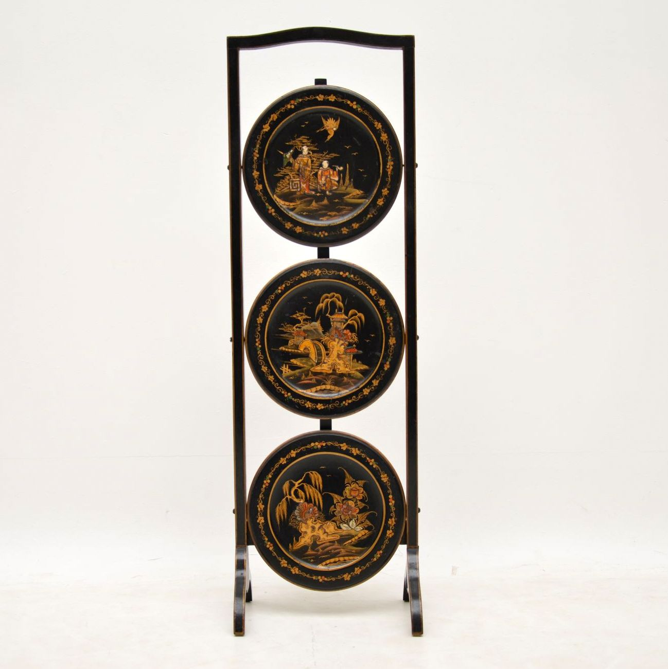 Antique Chinoiserie Cake Stand