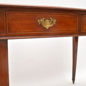 Antique Inlaid Mahogany Leather Top Writing Table