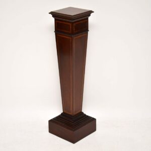 Antique Edwardian Inlaid Mahogany Column