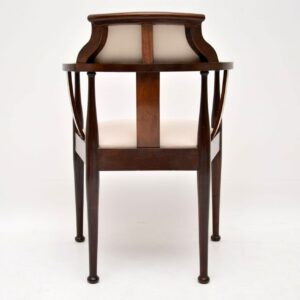 Antique Edwardian Inlaid Mahogany Armchair