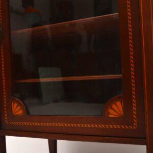 Antique Edwardian Inlaid Mahogany Cabinet