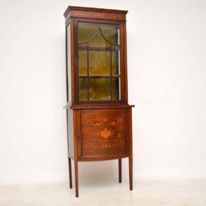 Antique Victorian Inlaid Mahogany Display Cabinet