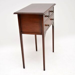 Antique Edwardian Mahogany Side Table