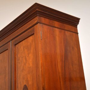 Antique Edwardian Inlaid Mahogany Linen Press