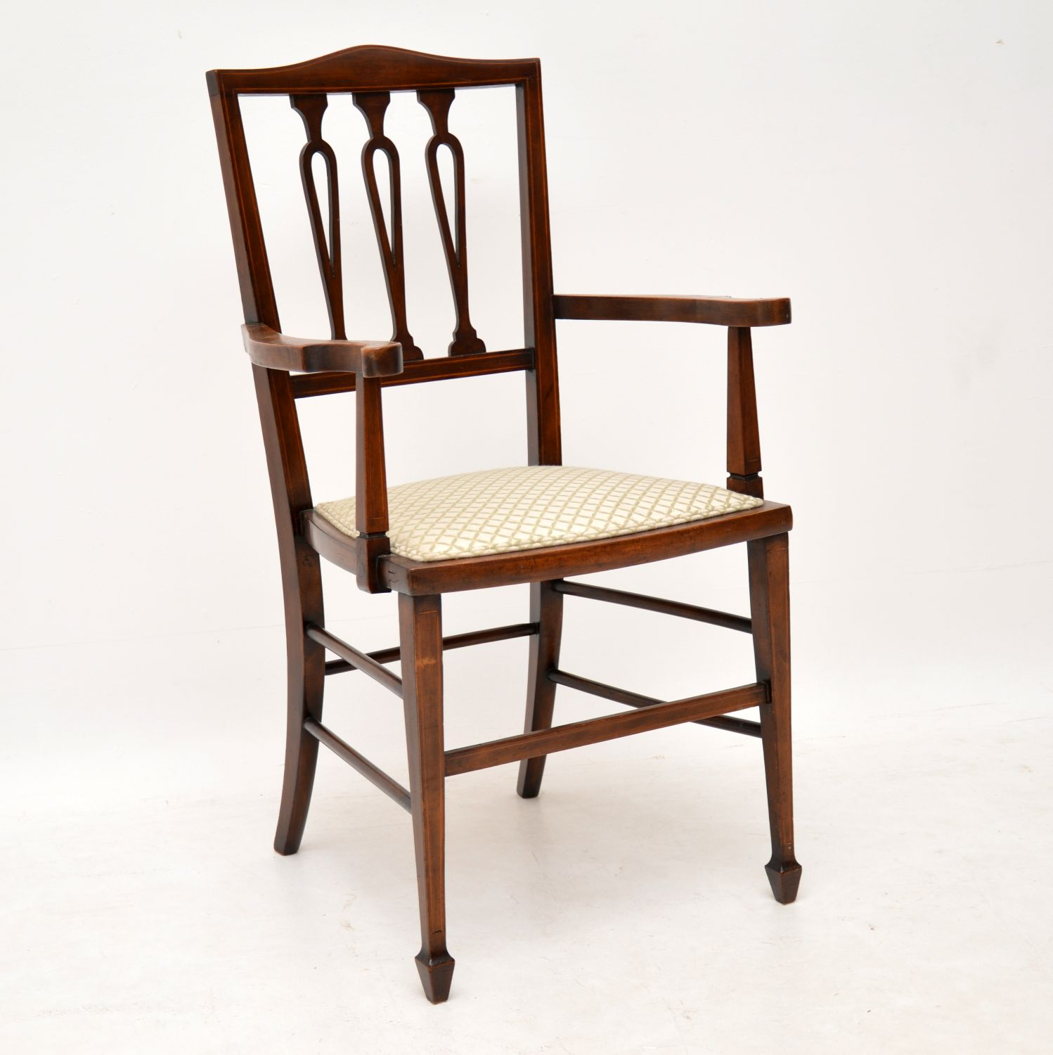 Antique Edwardian Mahogany Armchair