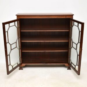 Antique Edwardian Mahogany Two Door Bookcase