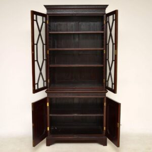 Antique Chippendale Style Mahogany Library Bookcase