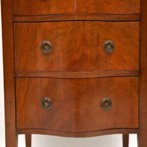 Antique Edwardian Serpentine Mahogany Chest of Drawers