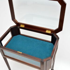 Antique Edwardian Inlaid Mahogany Bijouterie Display Table