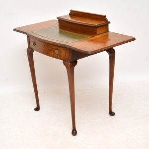 Antique Edwardian Mahogany & Leather Writing Table