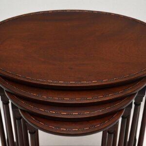 Antique Edwardian Mahogany Nest of Four Tables