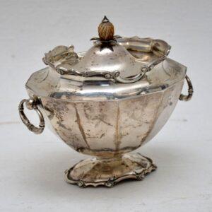 Antique Edwardian Solid Silver Tea Caddy C. 1912