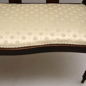Antique Edwardian Inlaid Mahogany Settee