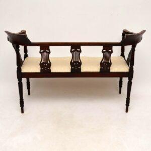 Antique Edwardian Inlaid Mahogany Settee