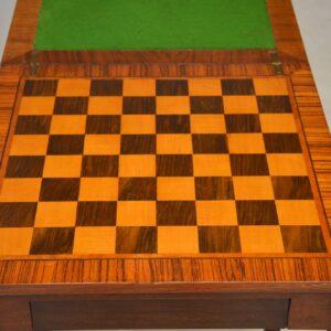 Antique Edwardian Walnut Games Table