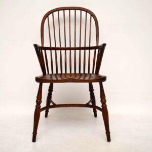 Antique Elm Windsor Armchair