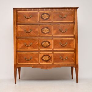 Antique Neoclassical Style Inlaid Marquetry Chest of Drawers