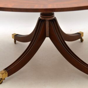 Large Antique Flame Mahogany Coffee Table