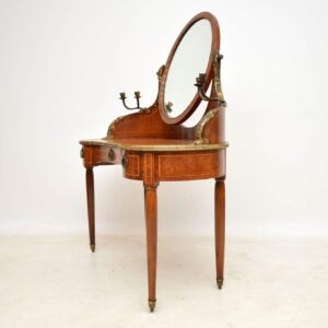 Antique French Burr Walnut Dressing Table