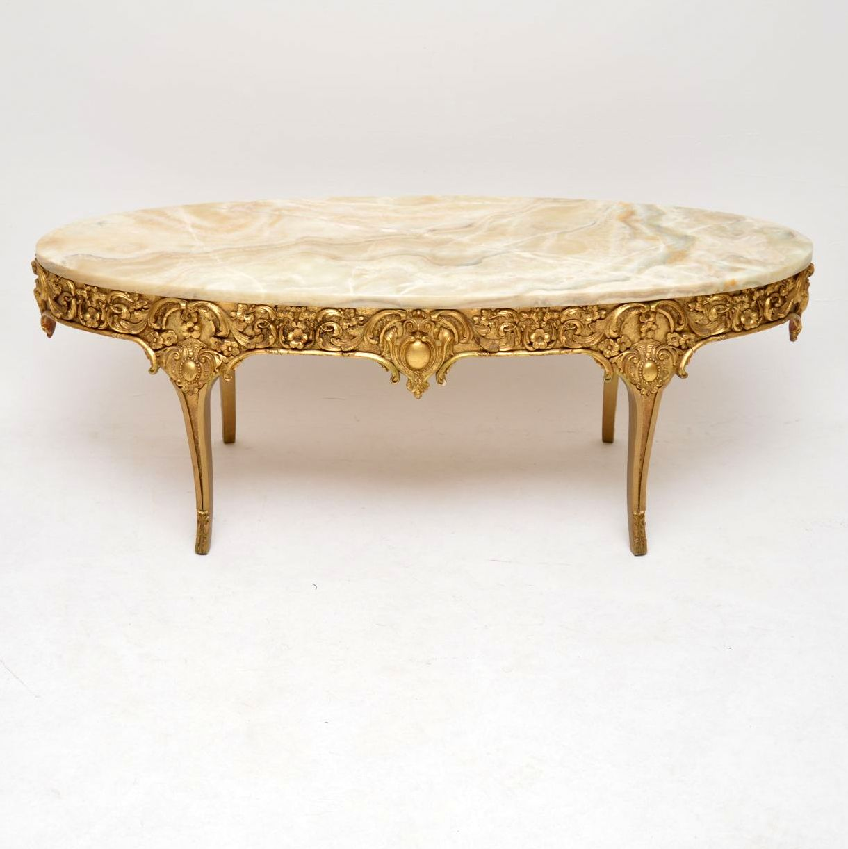 Antique French Gilt Wood & Gesso Coffee Table