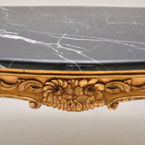 Antique French Gilt Wood Marble Top Coffee Table