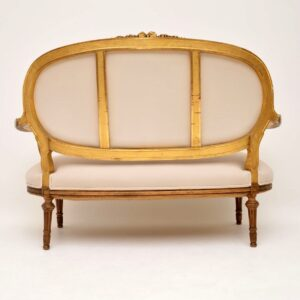 Antique French Gilt Wood Sofa