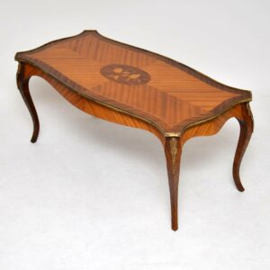 Antique French Inlaid Kingwood Coffee Table